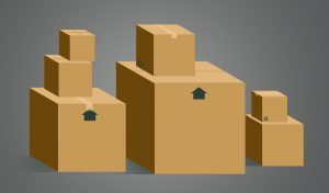 Moving boxes - the fewer items you move, the lower the moving costs