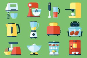 Various small kitchen appliances - learn how to pack your kitchen without damaging them