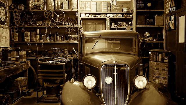 Garage with an old-timer